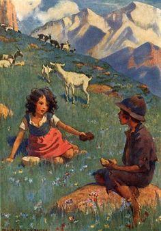 Illustrations by Jessie Willcox Smith. You can have that. I have plenty - Heidi by Johanna Spyri, 1922