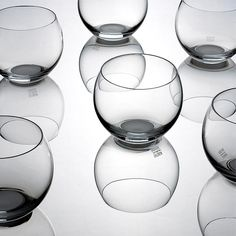 Ulla Christiansson Globe Glasses, Set of 4