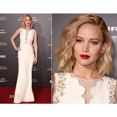 Jennifer Lawrence - Red Carpet Fashion Awards ❤ liked on Polyvore featuring models, dresses and people