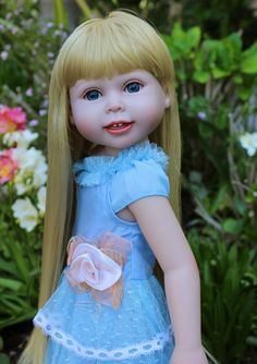 """18"""" vinyl bodied dolls and 18"""" doll clothes that fit American Girl, available at www.harmonyclubdolls.com"""