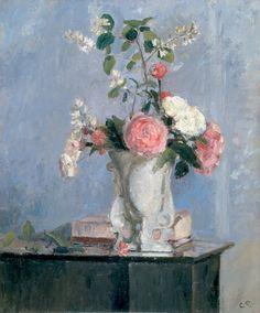 'Bouquet de Fleurs' (ca.1873) by Camille Pissarro