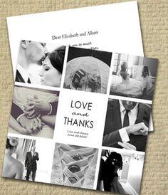 Black & White Montage Style - Wedding Suite Cards - AmoyShare