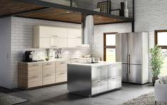 METOD keuken | #IKEA #IKEAnl #industrieel #stijlen #keukensysteem #modern #RVS #GREVSTA #BROKHULT #geïntegreerde #handgreep