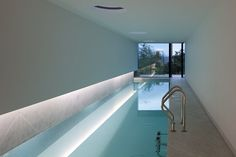 Private pool inside the L23 House, Portugal by Pitagoras Arquitectos _