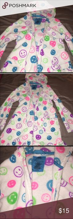 Justice Bath Robe Girls size 12/14 Justice hooded Bath Robe size 12/14. In excellent condition. Justice Pajamas Robes