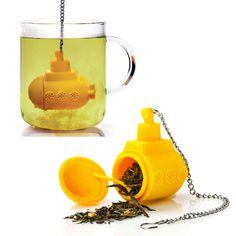 #teapot #tea #infuser #yellow #submarine #quirky #kitchenware