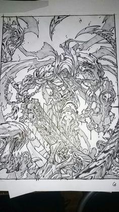 Darksider... (reproduction*) criterium/Crayon/feutre,