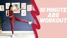 10 Minute Standing Abs Workout - YouTube 10 Minute Ab Workout, 10 Minute Abs, Standing Ab Exercises, Standing Abs, Home Exercise Routines, Ab Workout At Home, Toned Abs Workout, At Home Workouts For Women, Body Weight