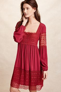 Aveline Lace Dress #anthropologie