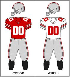 Ohio State Buckeyes Football Uniforms! One SCARLET & The Other White!