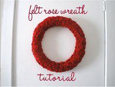 handmade by stacy vaughn: felt rose wreath tutorial