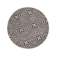 395 Eorc Contemporary Geometric Marla Blue Wool Hand Tufted Round Rug 7