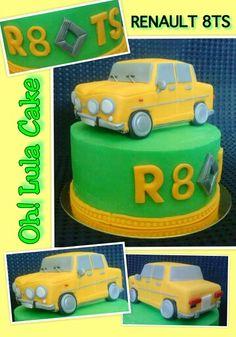 Tarta Renault 8 ts. Renault  8 cake.