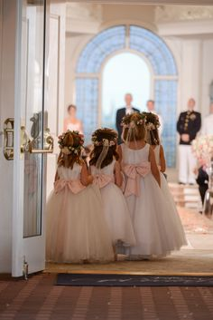 Flowergirls await their entrance at Disney's Wedding Pavilion