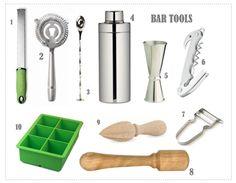 Only the essentials... bar tools for the home bar. http://octavia-brown.com/bar-essential-bar-tools/