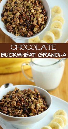 Chocolate Buckwheat Granola recipe for a grain-free and gluten-free breakfast