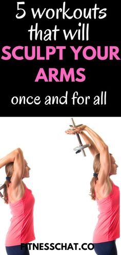 Ultimate upper body workout for women for sexy toned arms. Back workout and shoulder workout plan for women to lose weight. Best arm workout women Killer Arm Workouts, Full Arm Workout, Dumbbell Arm Workout, Tone Arms Workout, Arm Workouts At Home, Body Workouts, Arm Workout For Beginners, Pilates For Beginners, Beginner Pilates