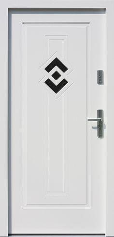Drewniane wejściowe drzwi zewnętrzne do domu z katalogu modeli klasycznych wzór 575,1