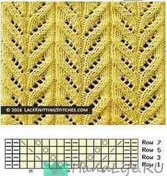 knitted lace pattern chart no 18 multiple of 16 sts 2 all even rows rep from to end - PIPicStatsA collection of beautiful knitting stitches featuring lace and eyelets for knitters of all levels, including written instructions and chart patterrn.This Pin w Lace Knitting Stitches, Lace Knitting Patterns, Knitting Charts, Lace Patterns, Easy Knitting, Stitch Patterns, Knitting Tutorials, Knitting Videos, Knitting Machine