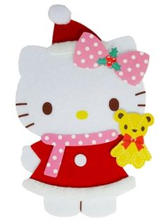 Hello Kitty Flaffy Santa Claus Pop Up Christmas Greeting Card