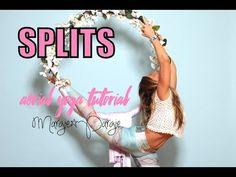 Aerial Yoga Splits Tutorial - Margie Pargie