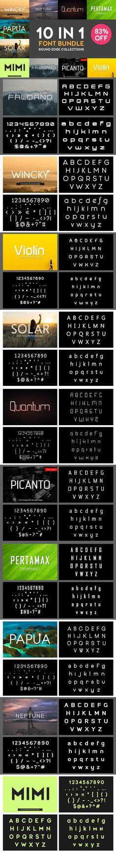 10 In 1 Bundle Font - 83% Off. Sans Serif Fonts