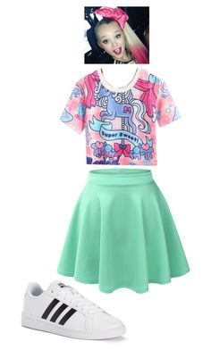 A fashion look from March 2017 featuring white top, green skirt and adidas sneakers. Browse and shop related looks. Kids Outfits Girls, Cute Girl Outfits, Cool Outfits, Party Fashion, Girl Fashion, Jojo Siwa Outfits, Jojo Siwa Birthday, Unicorn Fashion, Jojo Bows