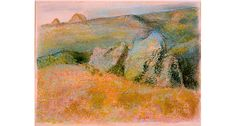 Artist Name:  Edgar Degas |   Nationality & Life Dates:  French, 1834 – 1917   | Title:  Landscape with Rocks   | Date:  1892   | Medium:  Pastel over monotype in oil colors on wove paper   | Dimensions:  Framed/Mounted: 18 3/4 x 21 3/4 x 2in. (47.6 x 55.2 x 5.1cm)   | Credit Line:  Purchase with High Museum of Art Enhancement Fund  Accession