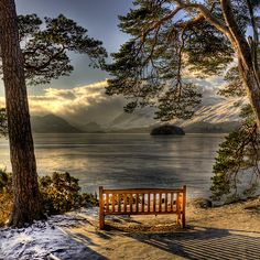 Keswick ,England my mom and sister sat on this bench once and so did Neville and I and Sandy.