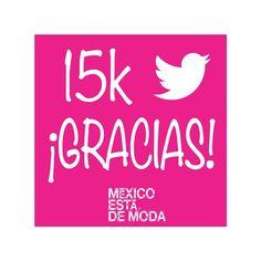 Ya somos más de#15k en twitter, gracias totales si no nos sigues aún y quieres enterarte por que #mexicoestademoda dentro y fuera de México síguenos @mexicoestadmoda