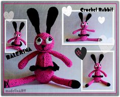 BALERINA crochet rabbit :)