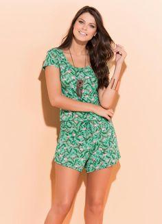 Click Na Moda Feminina: Blusa  e Short