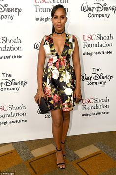 Radiant:Kerry Washington looked incredible as she stepped out for the first time after her son's birth to attend the Ambassadors for Humanity Gala Benefiting USC Shoah Foundation in Los Angeles on Thursday