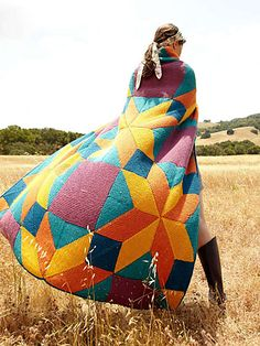 Bright Star knit in Berroco Comfort yarn. Pattern by Norah Gaughan Knitted Afghans, Afghan Crochet Patterns, Knitted Blankets, Blanket Patterns, Quilt Pattern, Knitting Patterns, Star Blanket, Patchwork Blanket, This Is A Book