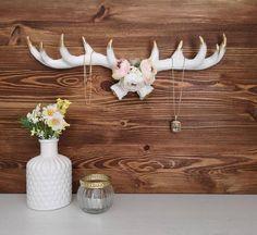 Vase, Turquoise, Decor, Antlers, Fake Flowers, Floral Wreath, Handarbeit, Jewelery, Decorating