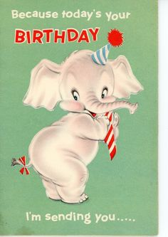 Vintage Birthday Greeting Card Elephant Pop Up inside Card 1457 FOR SALE • $4.00 • See Photos! Money Back Guarantee. 4 1/2 x 6 1/2 Great for the Collectors - Scrapbooking - art projects - mixed media art I ship in Cardboard envelopes with tracking. NO INTERNATIONAL SHIPPINGPAYPAL PLEASEWILL COMBINE 262896334453