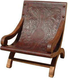 Large selection of Hacienda & Mexican style Rustic Furniture along with an incomparable selection of Mexican Folk Art Diy Pallet Furniture, Furniture Layout, Rustic Furniture, Vintage Furniture, Furniture Ideas, Leather Tooling, Tooled Leather, Mexican Chairs, West Indies Style