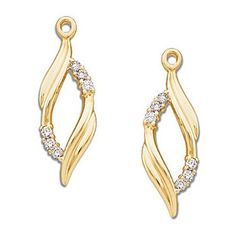 2ec96710d71e 14k Yellow Gold Diamond Polished Marquise Earring Jackets - 0.2cttw