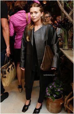 Ashley in all black.