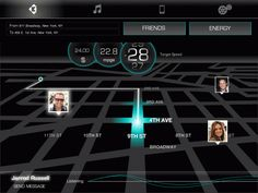 UI for Connected Car App by Ethan Bliss, via Behance