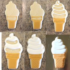 CookieCrazie: Soft serve ice cream cone cookie (tutorial)