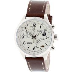 タイメックス 腕時計 インテリジェントクオーツ フライバック T2N932 オフホワイト×ヴィンテージブラウン - 腕時計の通販ならワールドウォッチショップ