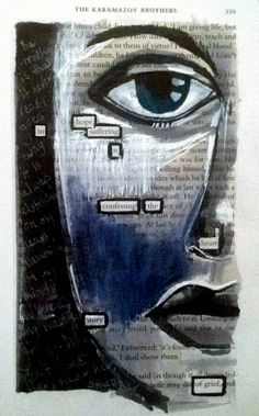 Black out poetry print - Disclosure