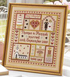 Wedding Patchwork Sampler - Historical Sampler Company