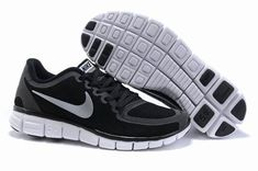 Nike Free Run 5.0 V5 Shoes Black Silver