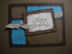 Love the colour combonation on this card.  Handmade Birthday Card by DebsDesignsCrafts on Etsy