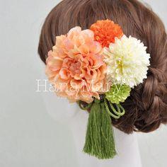 HanaMaryは自由にお花の髪飾りをセットでアレンジできちゃうショップサイト