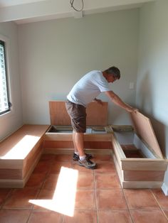 breakfast nook DIY  On A Whim St John Blog   Watch us remodel our home on St John USVI