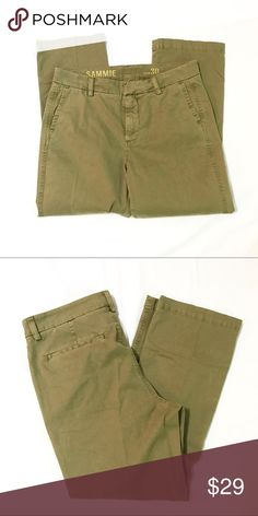 NWT J Crew Sammie Pants Olive green Sammie pants from J Crew retail. Brand new with tags. J. Crew Pants
