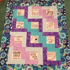 My Mothers Day quilt to my Grandma!! Do you have a Grandma that needs a special gift? Email me today!! Polopj13@aol.com
